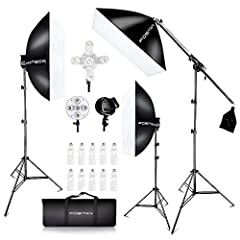FOSITAN LS-3000 3pcs softbox total 2500 watts output constant light studio photography lighting system, easy to use and setup, is ideal for all level photographers, providing different shooting. You could use them in the studio photography or...