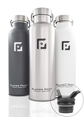 Glacier Point Vacuum Insulated Stainless Steel Water Bottle (Gray, 25 OZ)