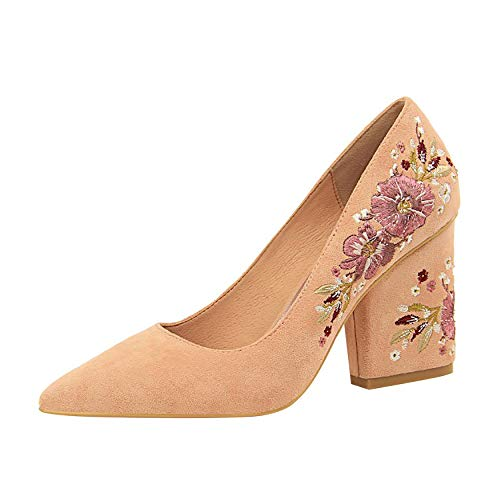 Femme Vadxpt 5cm Chaussures 8 Escarpins Rose B nbsp;pointu Vaneel Sur Glisser Bout 6q5xdHaC