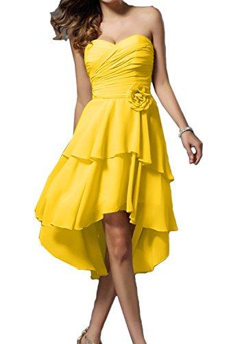 Topkleider - Vestido - trapecio - para mujer dorado