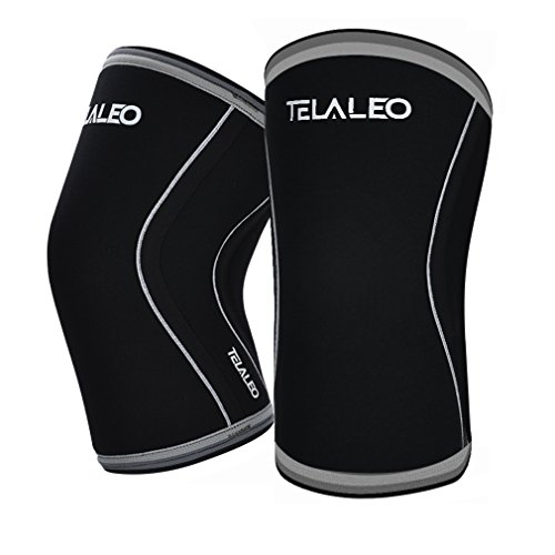 TELALEO Knee Sleeves (1 pair), 7mm Thick Compre...
