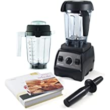 Vitamix Professional Series 300 Onyx Blender With Wet Container, Dry Grains Container, and 2 Cookbooks