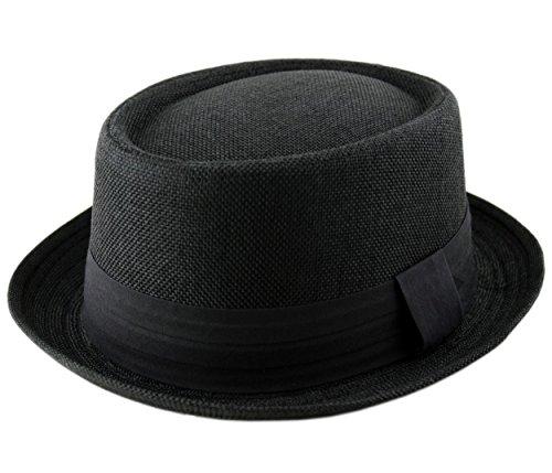 61b9d5ab Adult Pork Pie Trilby Fedora Jute Hessian Feel Hat Band Unisex (Breaking Bad  Heisenberg Style) - Buy Online in Oman. | Clothing Products in Oman - See  ...
