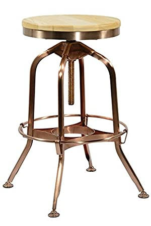 Pleasant Aurora Copper Bar Stool Amazon Co Uk Kitchen Home Caraccident5 Cool Chair Designs And Ideas Caraccident5Info