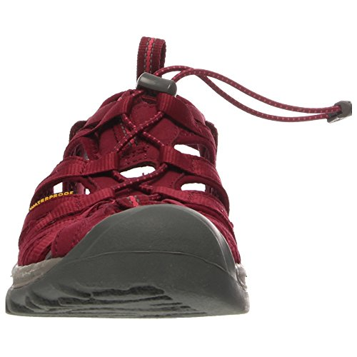 Keen WHISPER W-NEUTRAL GRAY/BRIGHT CHARTREUSE 1008452 - Sandalias para mujer Beet Red