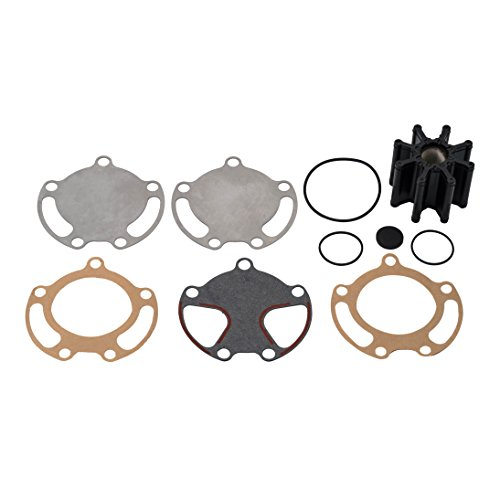 (Quicksilver 59362Q08 Sea Water Pump Impeller Replacement Kit - Bravo I, II and III with Two-Piece Pump Body)