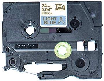 D200//BW//VP Brother lunghezza 4 m per Brother P-touch H200 E100//VP H105 larghezza 24 mm Cube Plus Nastro per etichettatura originale colore: oro//azzurro H100LB//R D210//VP,Cube
