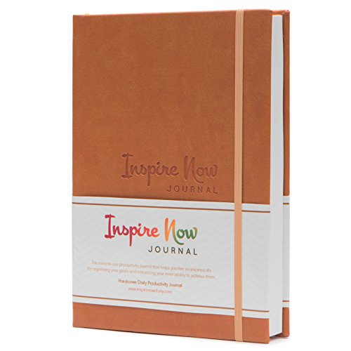 (INSPIRE NOW JOURNAL - A5 Daily & Weekly Productivity Planner | Undated Organizer | Set and Achieve Your Goals- Get Things Done | Increase Productivity, Motivation & Gratitude| Light Brown)