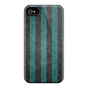 Defender Case For Iphone 4/4s, Striped Wall Pattern