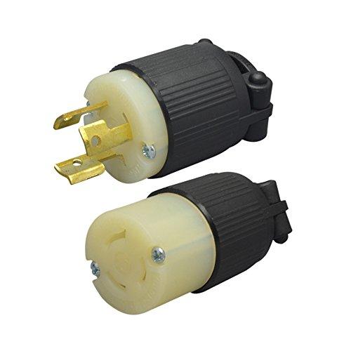 (YuaDon NEMA L6-15 P,NEMA L6-15 C Sets Locking Plug Connector,2 Pole,3 Wire 250V,15 Amp,Industrial Grade)