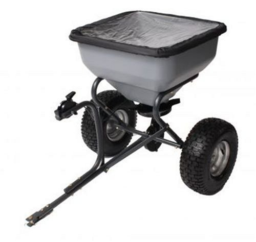 Precision Products TBS6000RDOS 6-Series 130-Pound Tow Behind Broadcast Spreader with Rain Cover by Precision Products