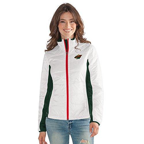 GIII For Her NHL Minnesota Wild Women's Grand Slam Full Zip Jacket, Medium, (Minnesota Wild Nhl Light)