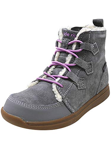 Stride Rite Girls' Made 2 Play Heather Fashion Boot, Grey, 12 M US Little Kid
