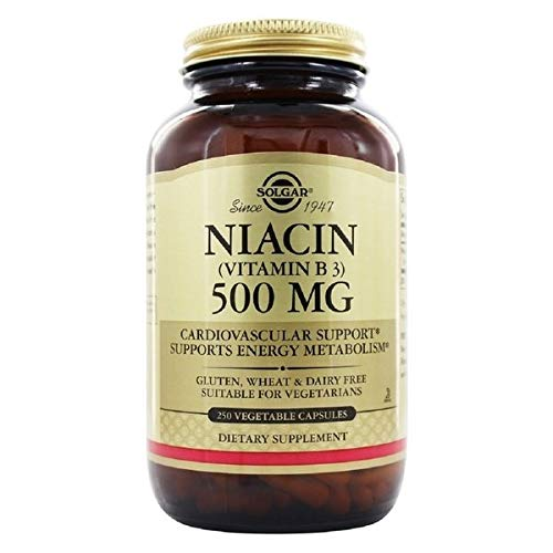 Solgar - Niacin (Vitamin B3) 500 mg, 250 Vegetable Capsules