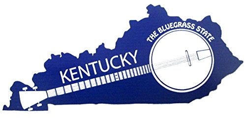 U.S. Custom Ink Kentucky The Bluegrass State Banjo Sticker Royal Blue