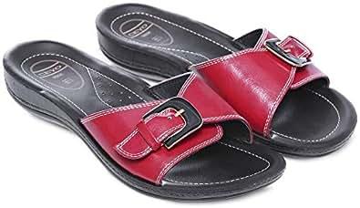 Ceyo Red Flip Flops Slipper For Women