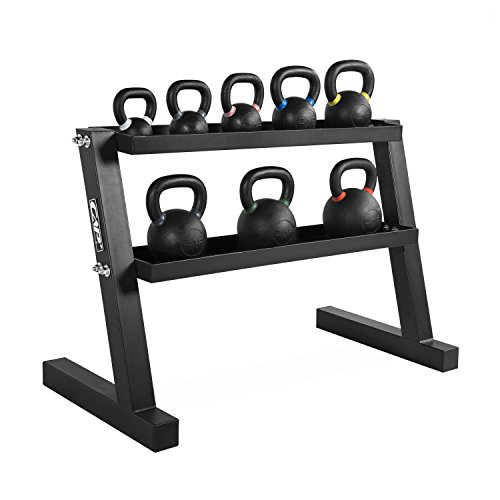"CAP Barbell Kettlebell Set with Storage Rack (Rack Only, 46"" Kettlebell Stand)"