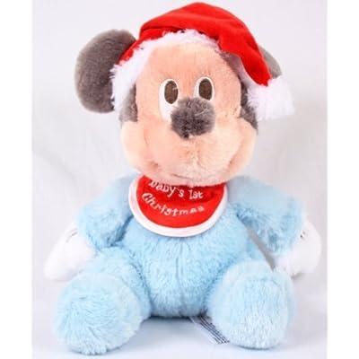 "Disney Mickey Mouse Plush 9'' - ""Baby's 1st Christmas"""