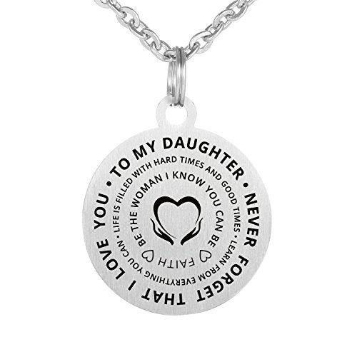 Family Friend to My Daughter Necklace Love stainless waterproof chains Birthday Necklace Gift Daughter