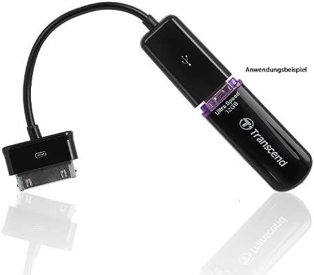 Transcend 7892c - Adaptador USB para Samsung Galaxy Note 10.1, negro