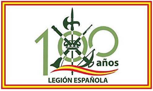 NEWTORO Bandera de Legion de España 100 Año 150 x 90 cm Durabol: Amazon.es: Jardín