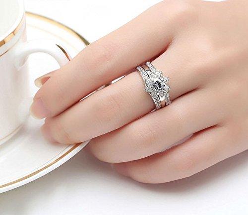 Amazon.com: Dixey Luxury Anillos Sortijas 18k de Compromiso Aniversario Matrimonio Boda Oro Plata Anel De Ouro Prata 925 Joyeria Fina Para Mujer (6) RI0013: ...