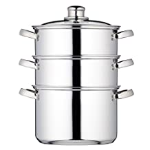Kitchen Craft 20 cm Clearview Stainless Steel 3-tier Steamer