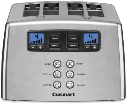 Cuisinart Touch to Toast Leverless toaster, 4-Slice, Brushed Stainless Steel