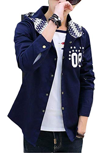 Vêtements Blue Blouson Navy Pour De Capuche Kangqi À Hommes qwvxqfT