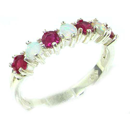 925-sterling-silver-natural-opal-ruby-womans-eternity-ring-sizes-4-to-12-available