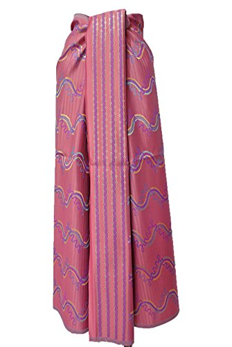 Thai Myanmar Synthetic Silk Pink Fabric Mandalay MT30 for women Skirt Dress MF23 (Mandalay Skirt)