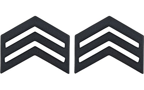 Army ROTC Rank for ENLISTED - Subdued Black (Cadet - Sergeant) (Army Uniform Rank)