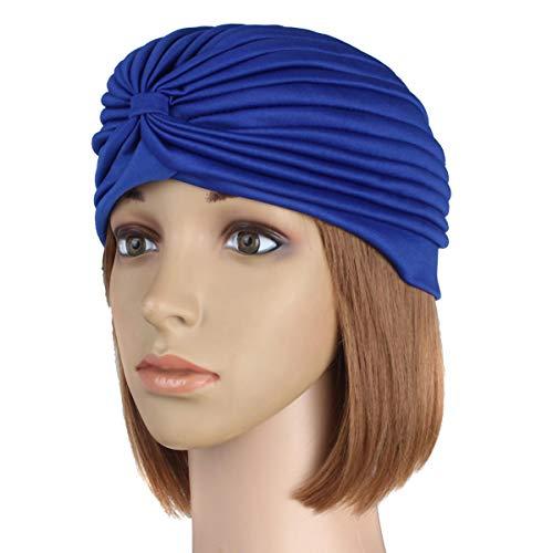 (Head Wrap Scarf - Head Wrap For Girls - Delivery Mummy Puerperal Turban Chemo Costume Full Head Cover Wrap Hats Hair Head Loss Scarf Warm Bandana - Blue (Head Wrap)