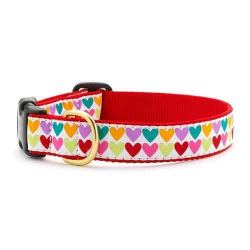 Pop Hearts Dog Collar S (9-15