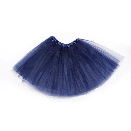 Dreamdanceworks - Falda tutú clásica de tul elástico de 3 capas azul marino