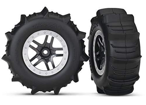Traxxas 5891 SCT Wheels SS Black Satin Paddle Tires (Traxxas Nitro Slash Pro)