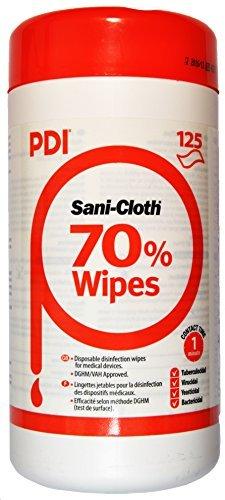 Pdi sani-cloth 70 toallitas con alcohol en bote x 125 por PDI
