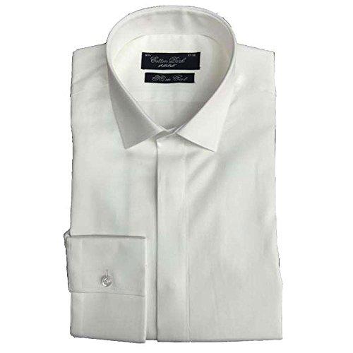 Cotton Park - Chemise 'Max' satin blanche - Homme