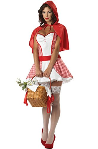 [8eighteen Little Miss Red Riding Hood Adult Costume] (Little Girl Gypsy Costumes)