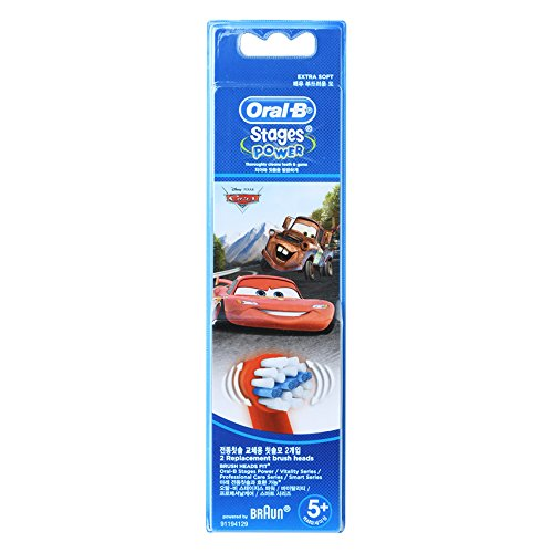 Disney Brush - Braun Oral-b Eb10 Stages Power Replacement Brush Heads 2ea [ Disney Cars ]