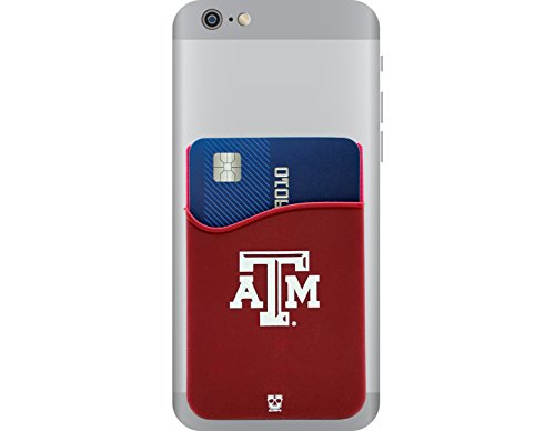 - Texas A&M Aggies Adhesive Silicone Cell Phone Wallet/Card Holder for iPhone, Android, Samsung Galaxy, Most Smartphones