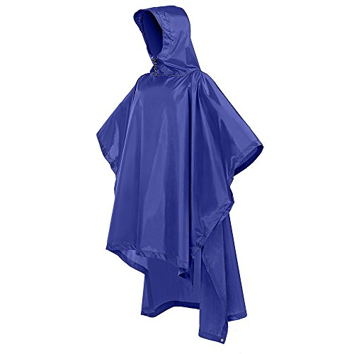 Ponchos Rain Poncho - Terra Hiker Rain Poncho, Waterproof Raincoat with Hoods for Outdoor Activities
