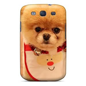 Flexible Tpu Back Case Cover For Galaxy S3 - Cute Christmas Dog 2012 Hd