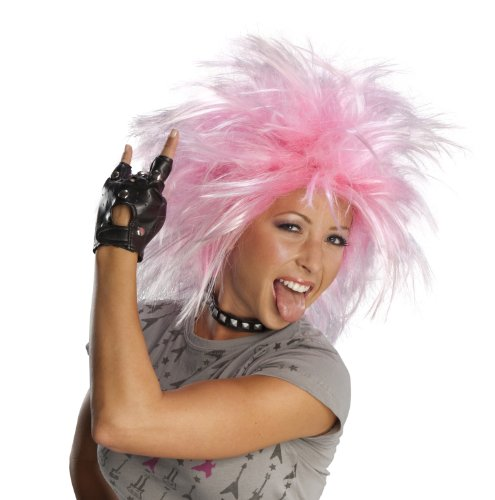 [Character Wig, Funky Punk Pink] (Halloween Costumes With Pink Hair)