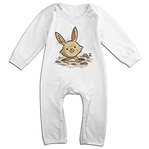 Baby Bodysuit Romper, Newborn Girls Boys Rabbit Long Sleeves Coverall Outfits