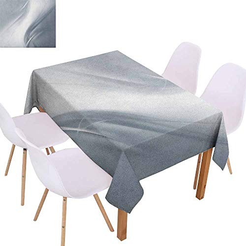 Marilec Stain-Resistant Tablecloth Grey Soft Abstract Digital Print Design in Purity Inspired Concept Style Artistic Urban Modern Soft and Smooth Surface W52 xL70 Gray