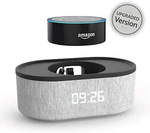 Bedside Speaker for Echo Dot 2nd Generation with USB Charging Port and LED
