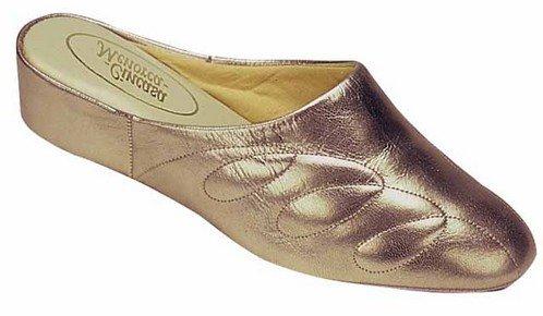 Cincasa Menorca Mahón-Menorca Damen Leder-Slipper WomenDamen Slip On Schuhe Zinn