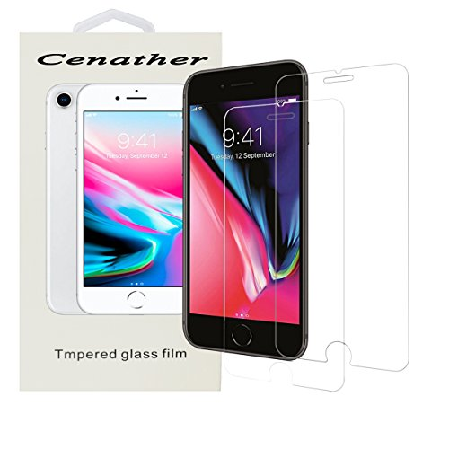 iPhone 8, 7, 6 Screen Protector Glass, [2-Pack] Tempered Glass Screen Protector Apple iPhone 8, 7, iPhone 6S, iPhone 6 [4.7 inch] 2017 2016, 2015 (Clear1)