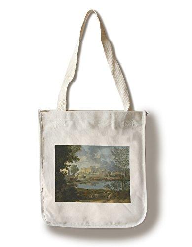 Landscape with a Calm - Masterpiece Classic - Artist: Nicolas Poussin c. 1594 (100% Cotton Tote Bag - - Landscape Nicolas Poussin